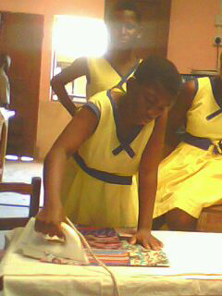 kids learn how to iron